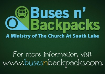 Buses 'n Backpacks Campaign